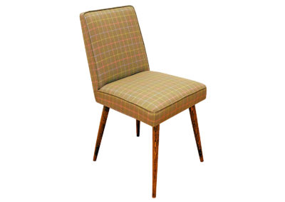 "A seat chair (upholstered) known as ""Patyczak"" from 1972. Type A-6150"