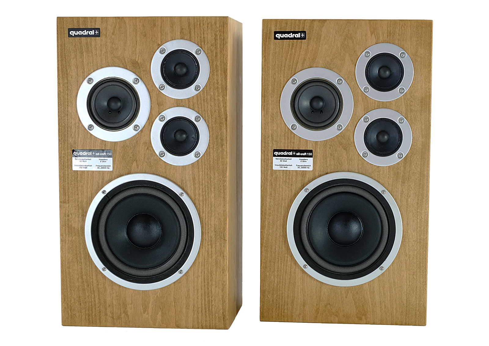 Vintage Quadral All Craft 150 Speakers