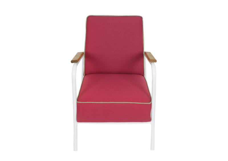 fotel prl z metalową ramą