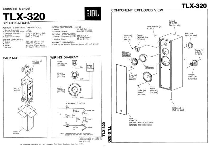 Kolumny podłogowe JBL TLX 320.