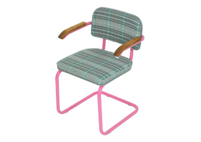 SYLWIA conference chair from the 90s. Produced by Nowy Styl. Pink