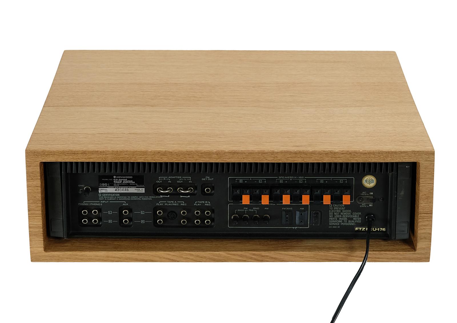Kenwood KR 6600 Stereo Receiver  Oak Wood Case