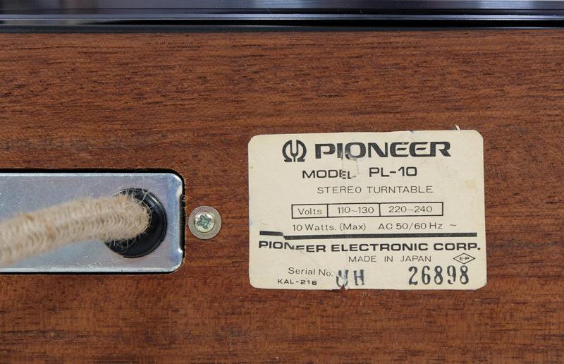 Pioneer PL-10