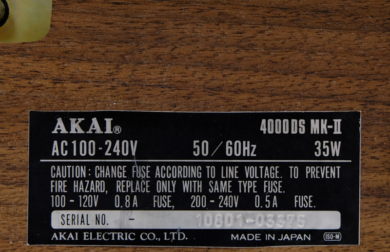AKAI 4000 DS MK II