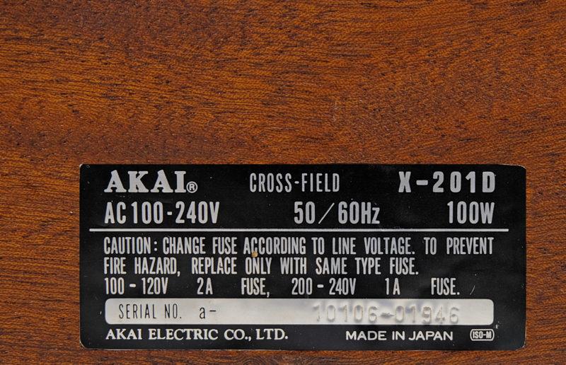 AKAI X 201 D