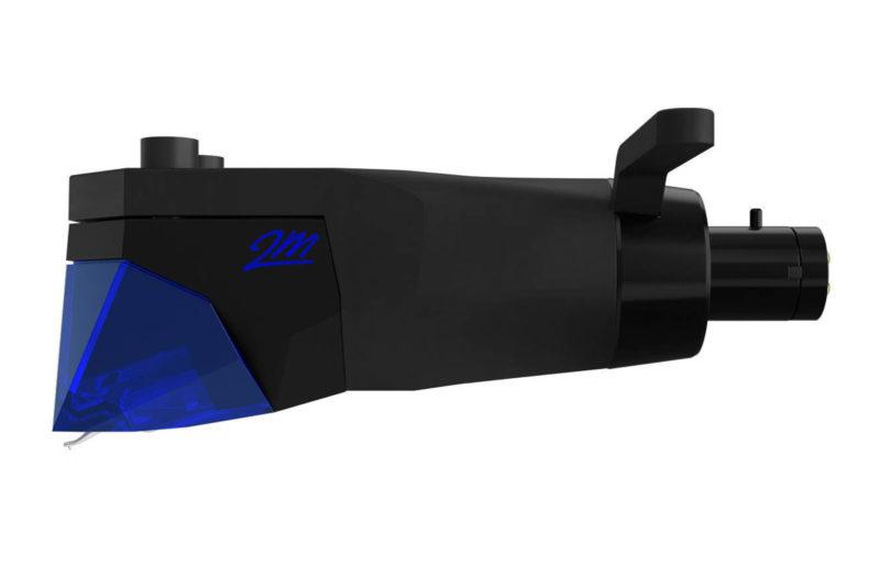 Ortofon 2M Blue Pnp Mk II mounted on headshell